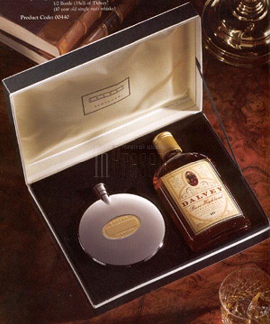 Набор виски с флягой на подарок