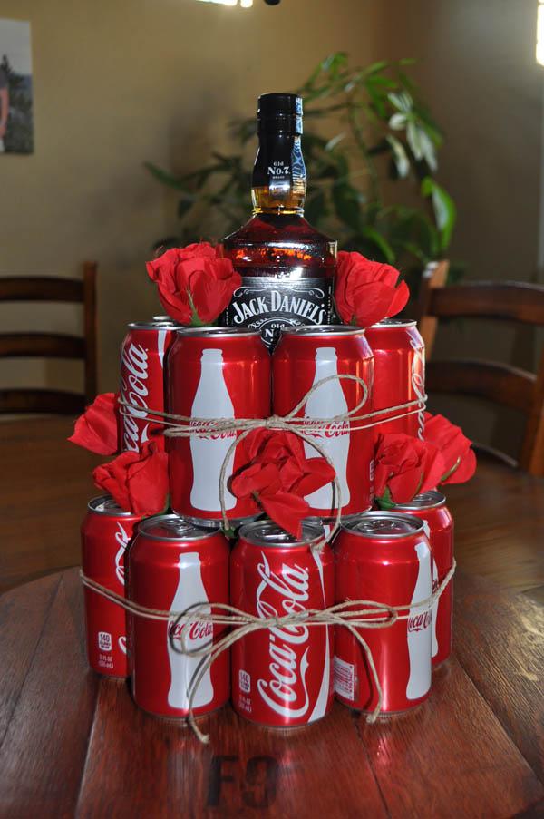 Виски Jack Daniels в подарок упаковка своими руками Coca cola