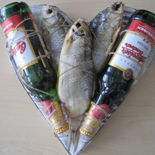 Пиво с рыбой идея сердца