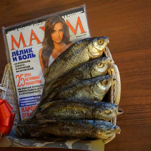 Пиво с рыбой и журналом