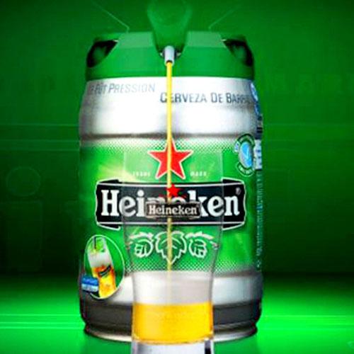 Бочка пива 5 литров Heineken