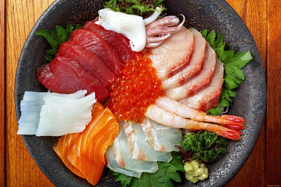 Рыба и морепродукты закуска под коньяк