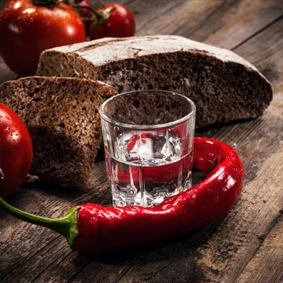 Закуска к водке черный хлеб