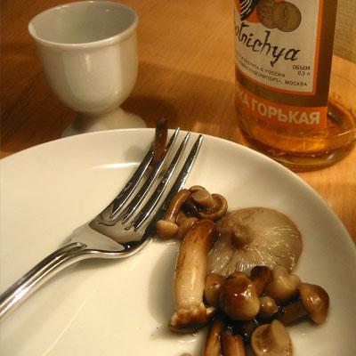 Закуска к водке Маринованные грибы