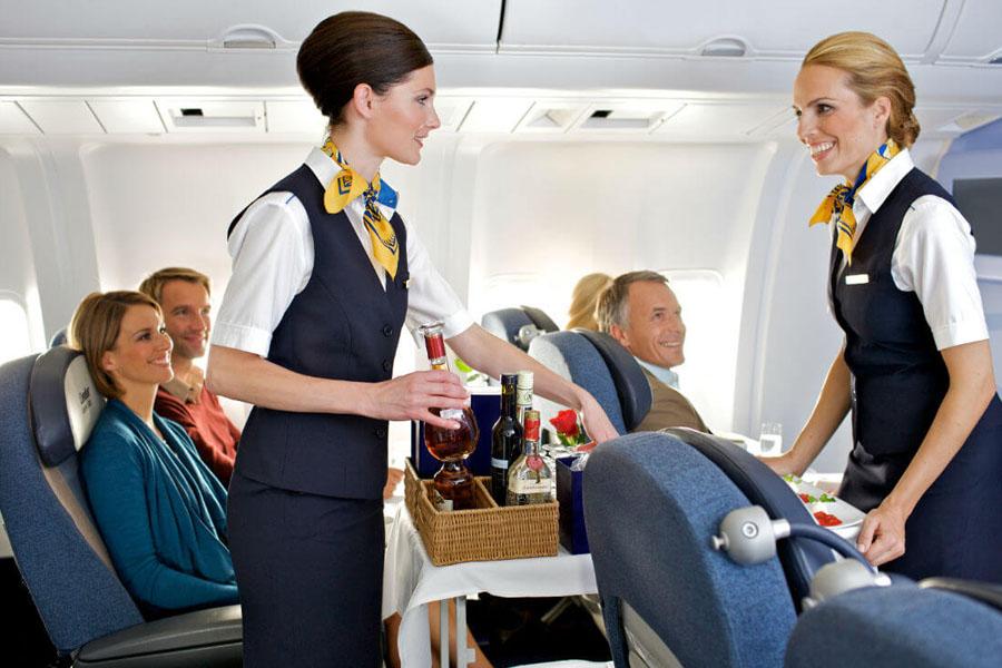 Алкоголь на борту самолета